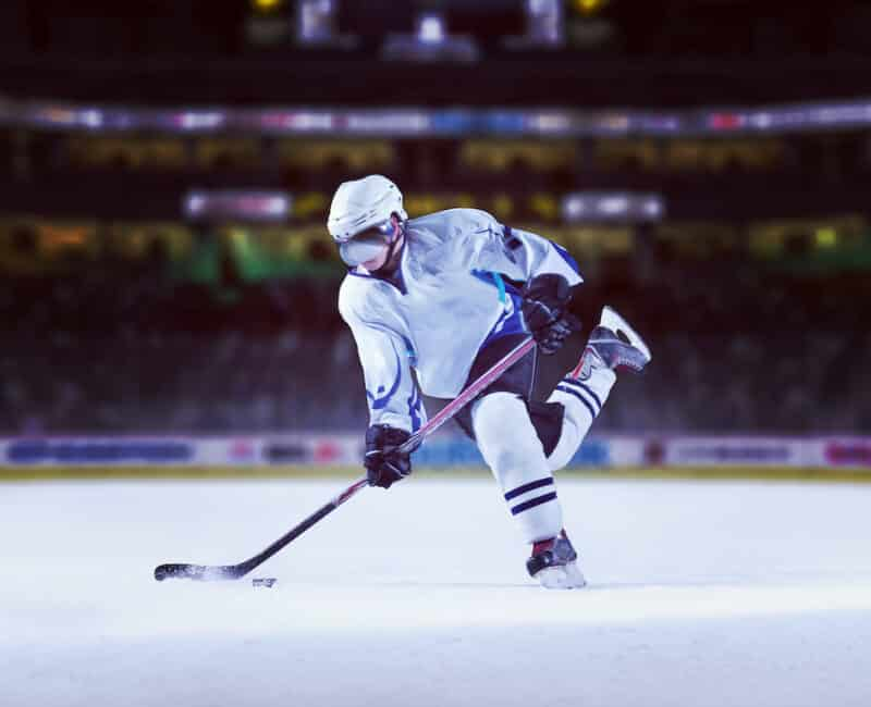 ice hockey player in action sport vision